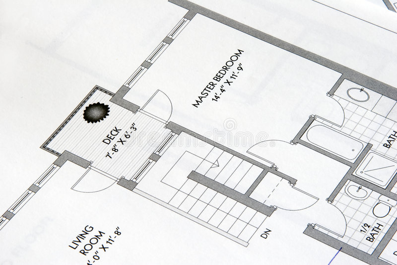 Desenhos 3 da planta fotografia de stock
