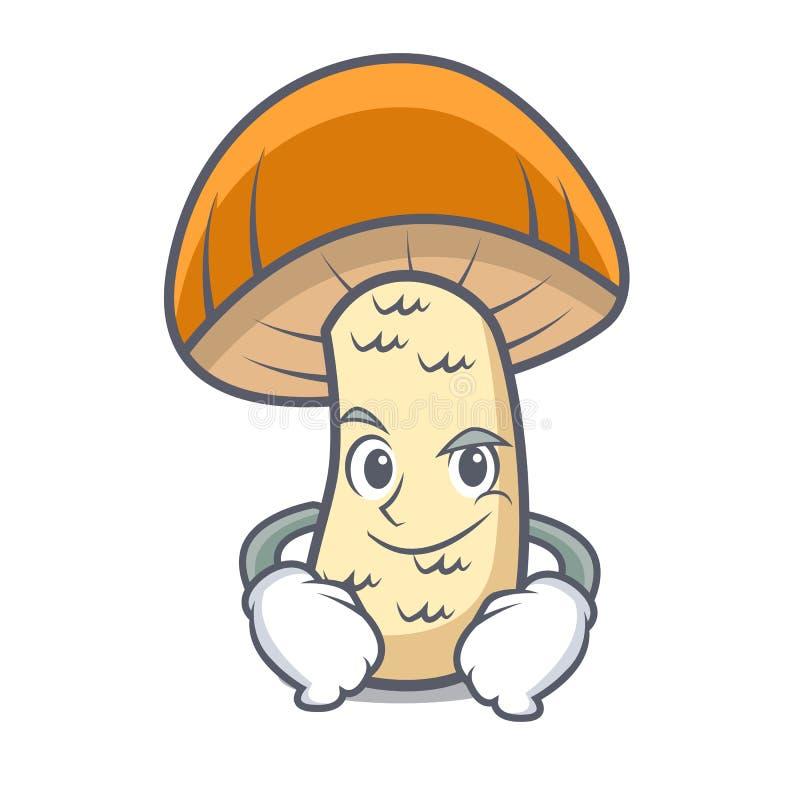 Desenhos animados alaranjados Smirking do caráter do cogumelo do boleto do tampão ilustração royalty free
