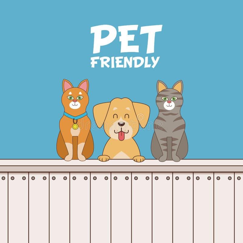 Desenhos animados amigáveis do animal de estimação ilustração royalty free
