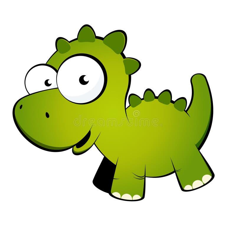 Desenhos animados amigáveis do dinossauro ilustração royalty free