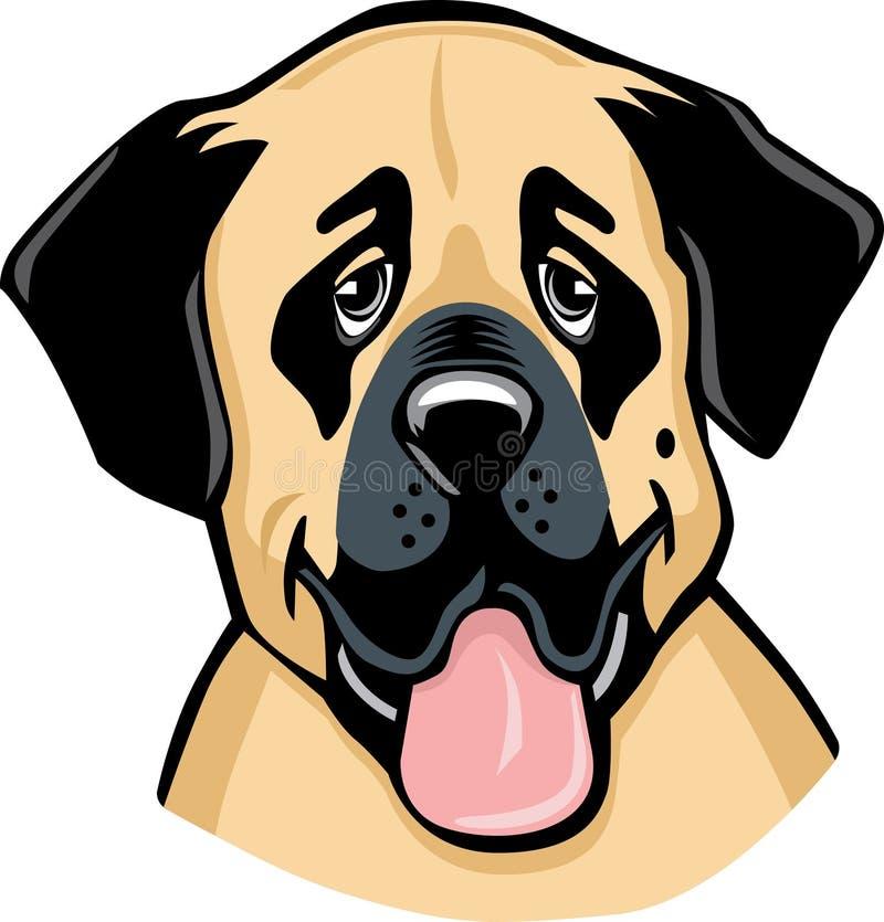 Desenhos animados anatólios do cão de Sheperd ilustração royalty free