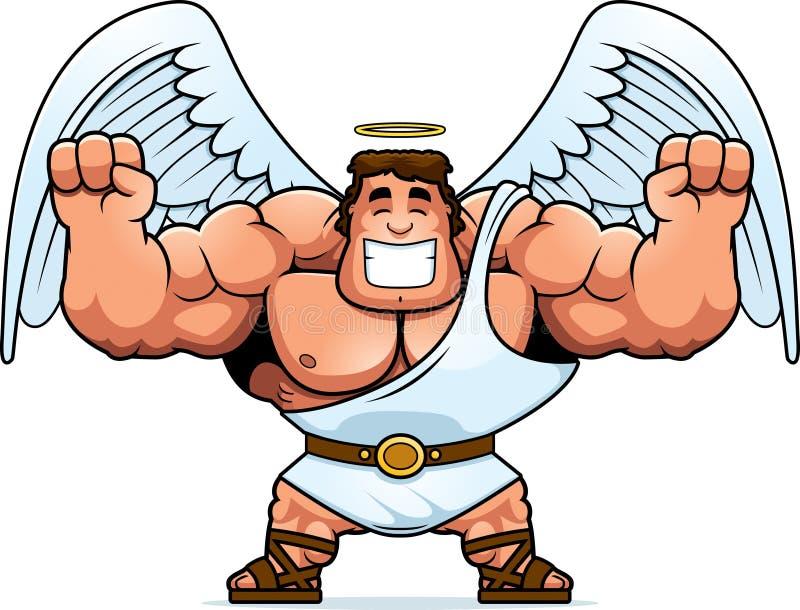 Desenhos animados Angel Celebrating ilustração do vetor