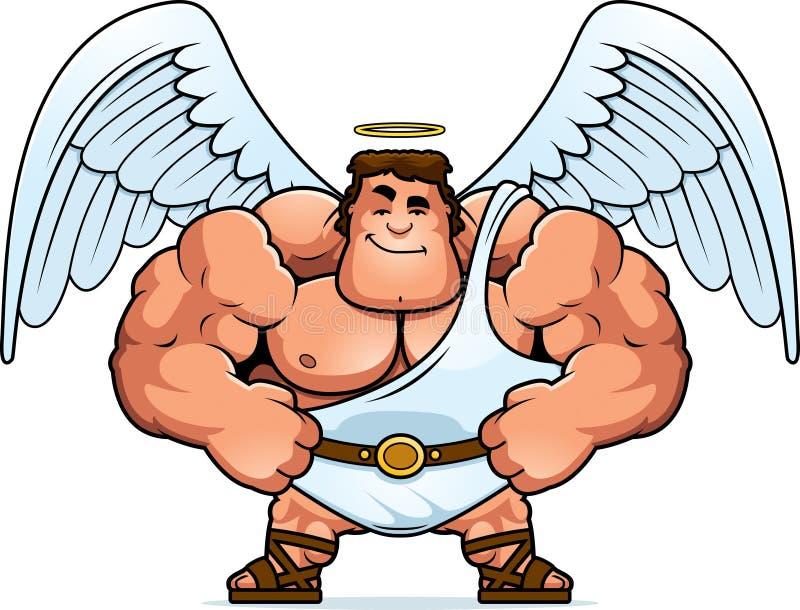 Desenhos animados Angel Confident ilustração do vetor