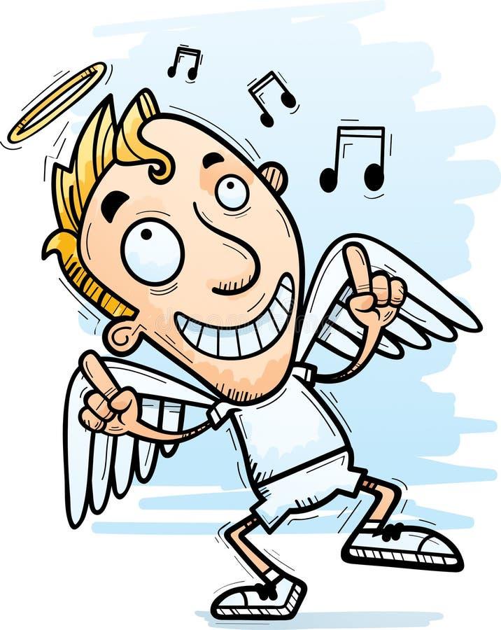 Desenhos animados Angel Dancing ilustração stock
