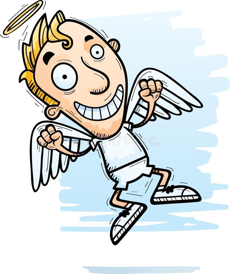 Desenhos animados Angel Jumping ilustração royalty free