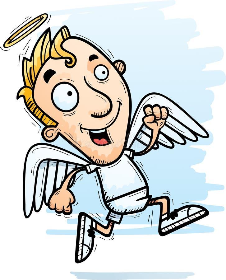 Desenhos animados Angel Running ilustração stock