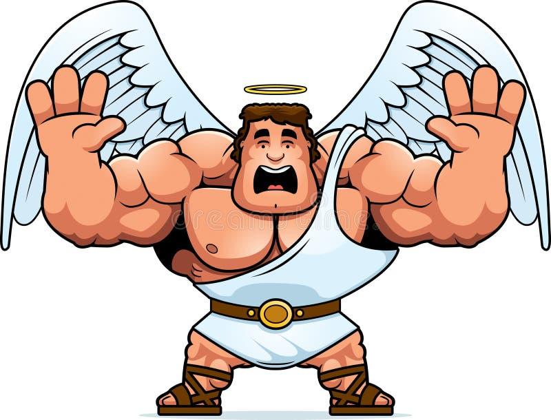 Desenhos animados Angel Scared ilustração royalty free