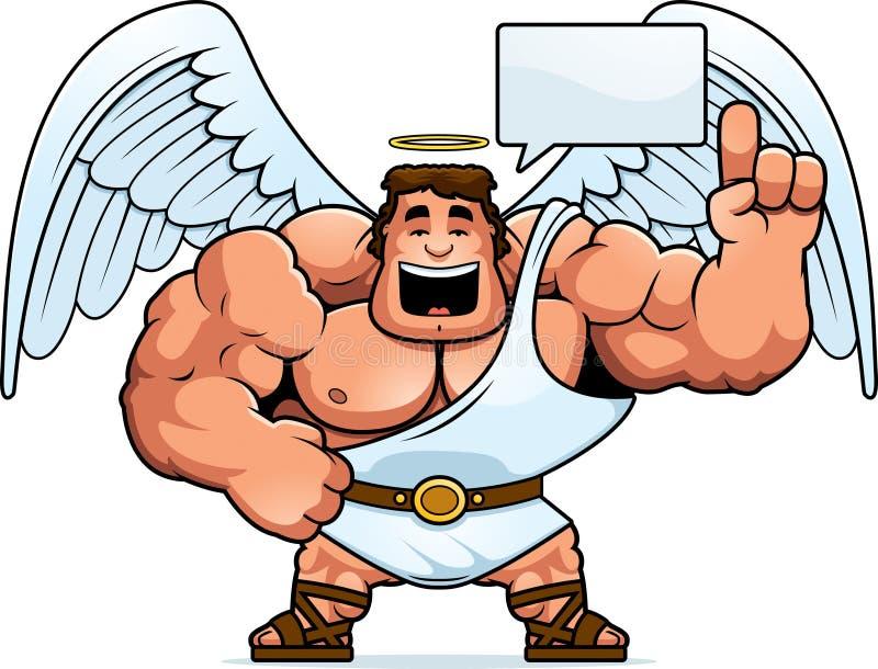 Desenhos animados Angel Talking ilustração stock