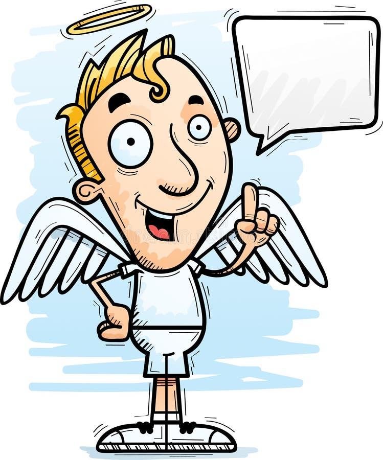 Desenhos animados Angel Talking ilustração do vetor