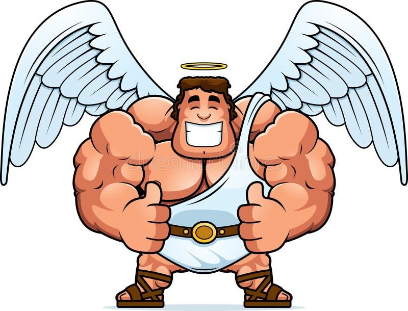 Desenhos animados Angel Thumbs Up ilustração do vetor