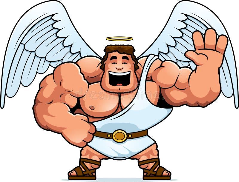 Desenhos animados Angel Waving ilustração stock