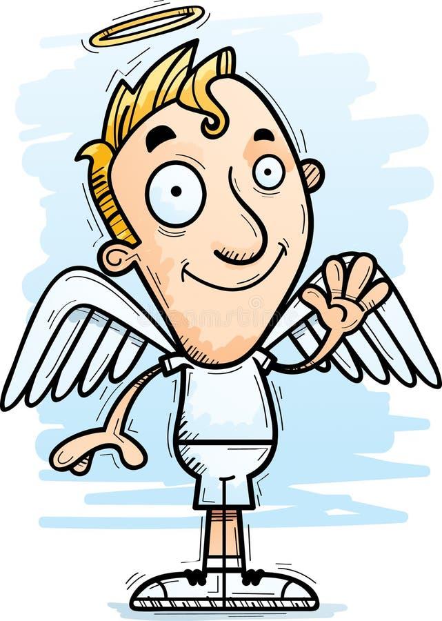 Desenhos animados Angel Waving ilustração royalty free