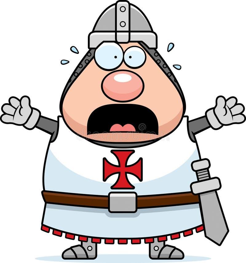Desenhos animados assustado Templar ilustração do vetor