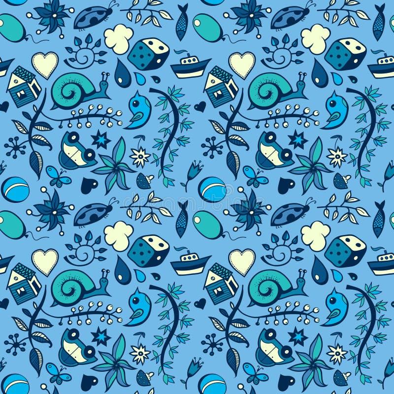 Desenhos animados azuis ilustração royalty free