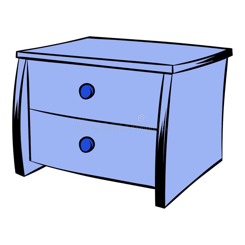 Desenhos animados azuis do ícone da caixa ilustração do vetor