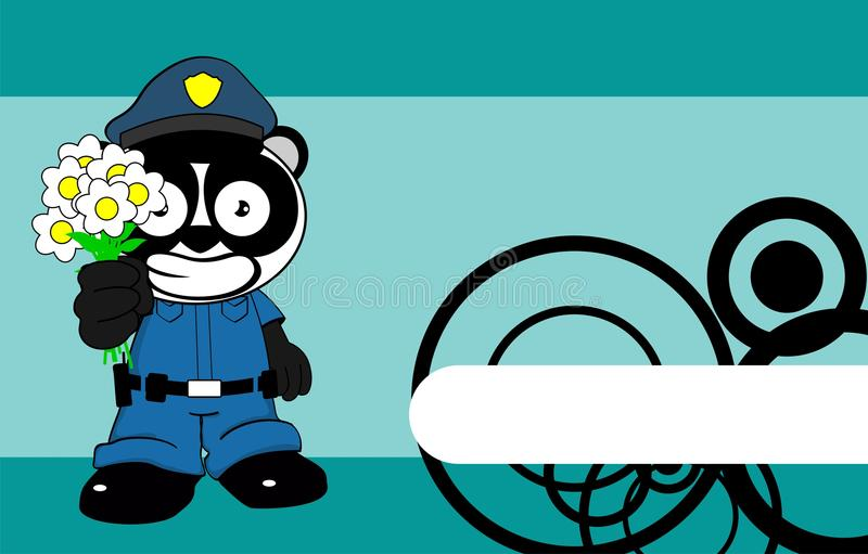 Desenhos animados background11 da criança do urso de panda da polícia ilustração royalty free