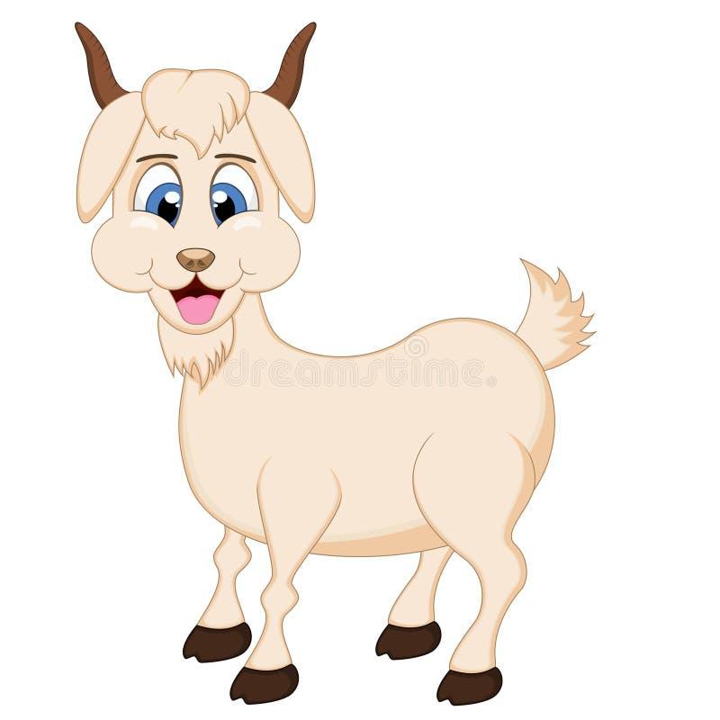 Desenhos animados bonitos da cabra ilustração stock