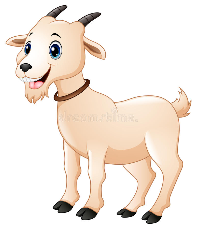 Desenhos animados bonitos da cabra ilustração royalty free