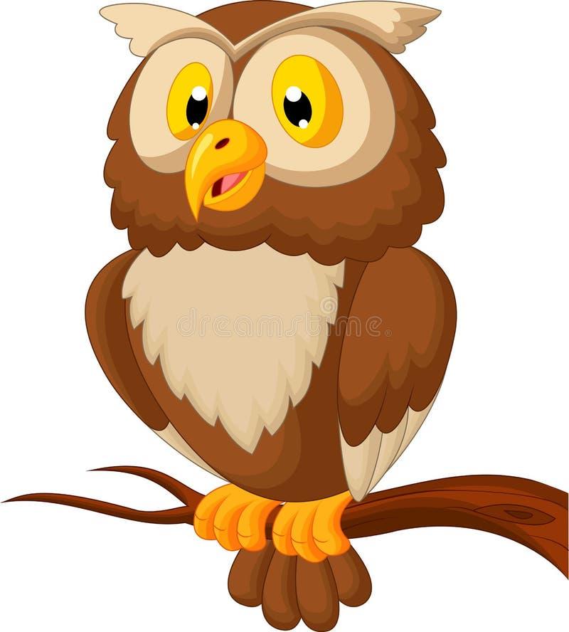 Desenhos animados bonitos da coruja ilustração stock