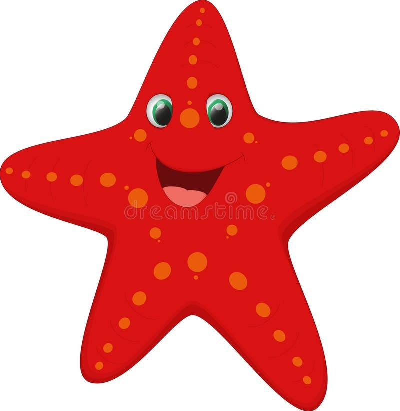 Desenhos animados bonitos da estrela do mar fotos de stock