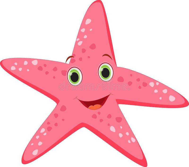 Desenhos animados bonitos da estrela do mar ilustração royalty free