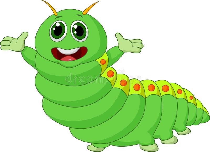 Desenhos animados bonitos da lagarta ilustração stock