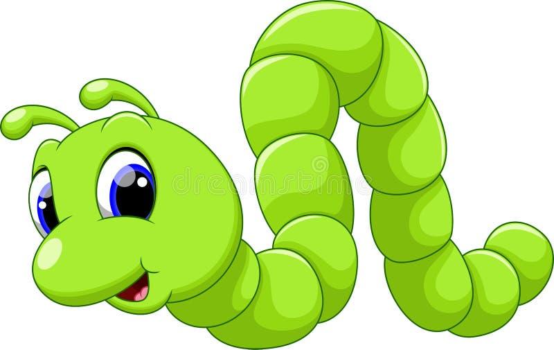 Desenhos animados bonitos da lagarta ilustração do vetor