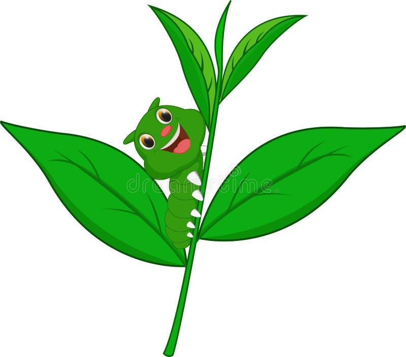 Desenhos animados bonitos da lagarta ilustração royalty free