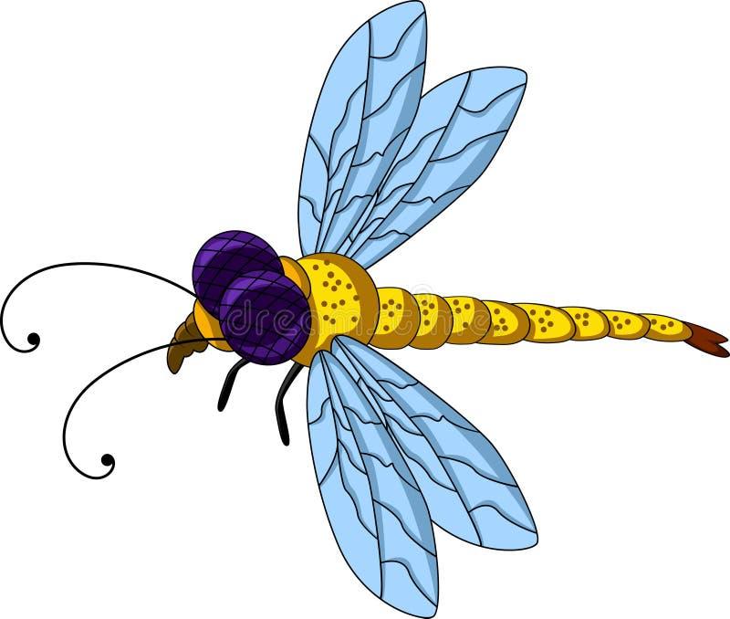 Desenhos animados bonitos da libélula para você projeto ilustração stock