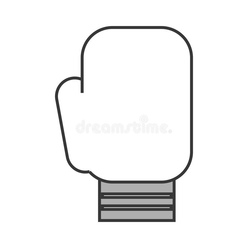 Desenhos animados bonitos da luva de Boxin ilustração do vetor