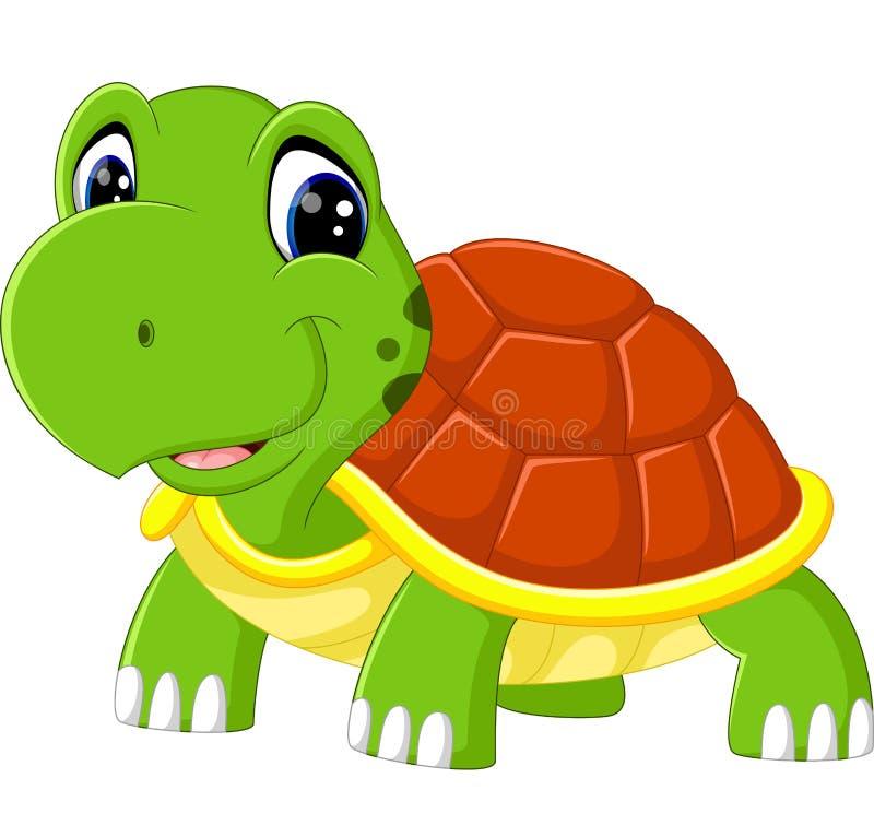 Desenhos animados bonitos da tartaruga ilustração royalty free