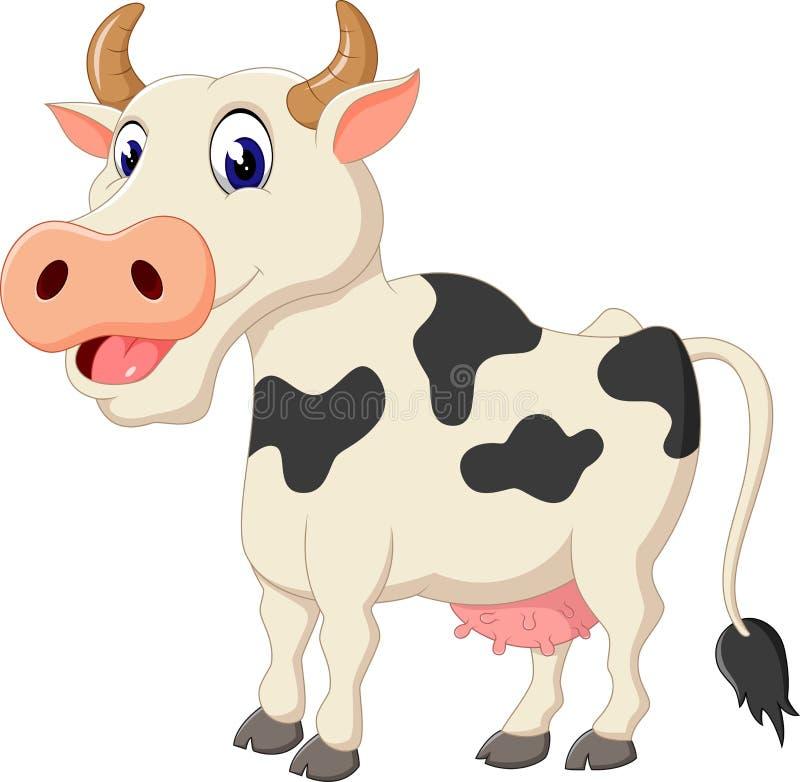 Desenhos animados bonitos da vaca ilustração stock