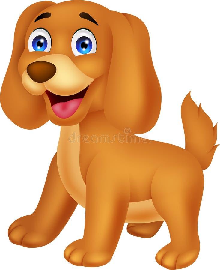 Desenhos animados bonitos do cachorrinho ilustração stock
