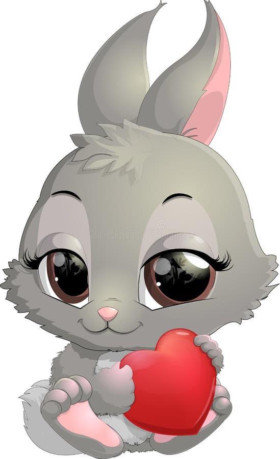 Desenhos animados bonitos do coelho ilustração do vetor