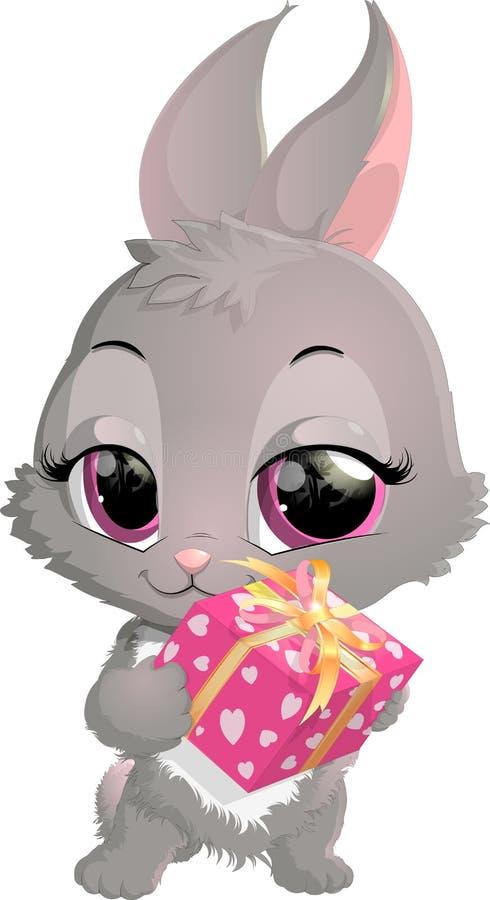 Desenhos animados bonitos do coelho ilustração stock