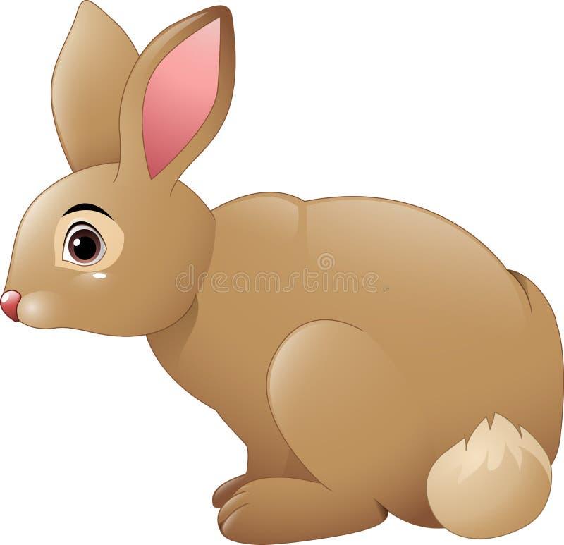 Desenhos animados bonitos do coelho ilustração royalty free