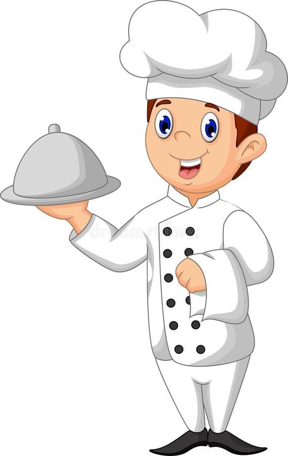 Desenhos animados bonitos do cozinheiro chefe ilustração stock