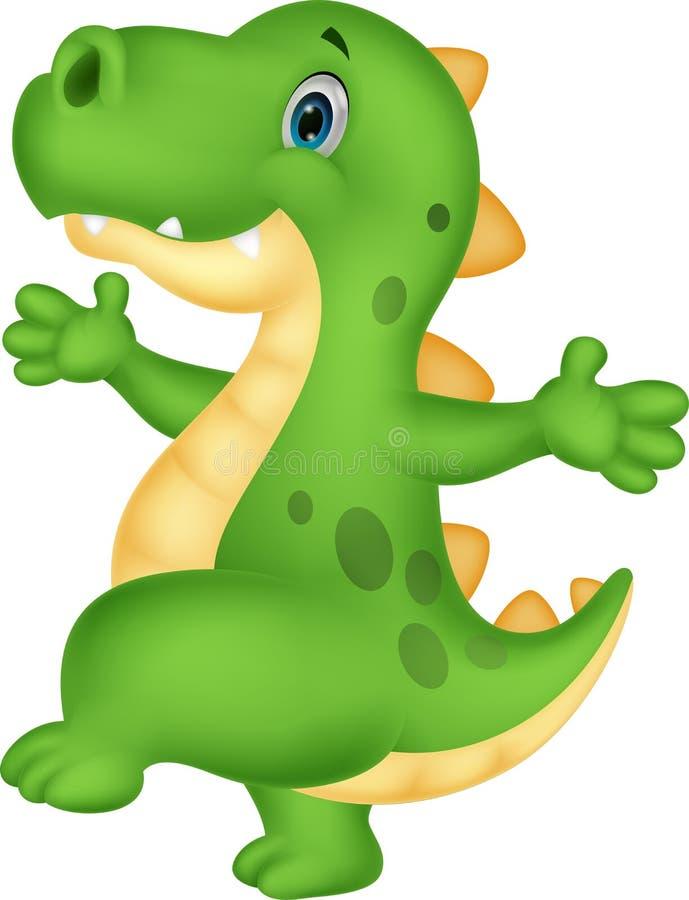 Desenhos animados bonitos do dinossauro ilustração royalty free