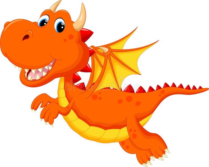 Desenhos animados bonitos do dragão