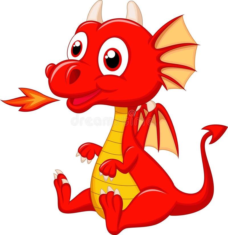 Desenhos animados bonitos do dragão do bebê ilustração do vetor