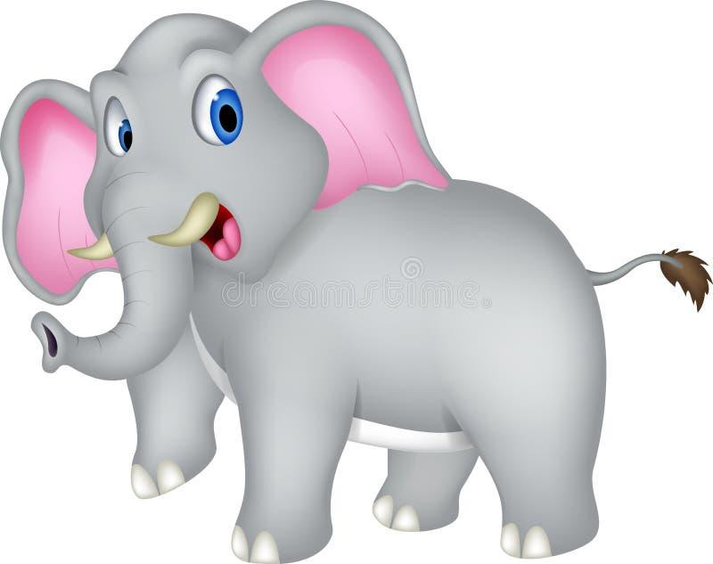 Desenhos animados bonitos do elefante ilustração royalty free