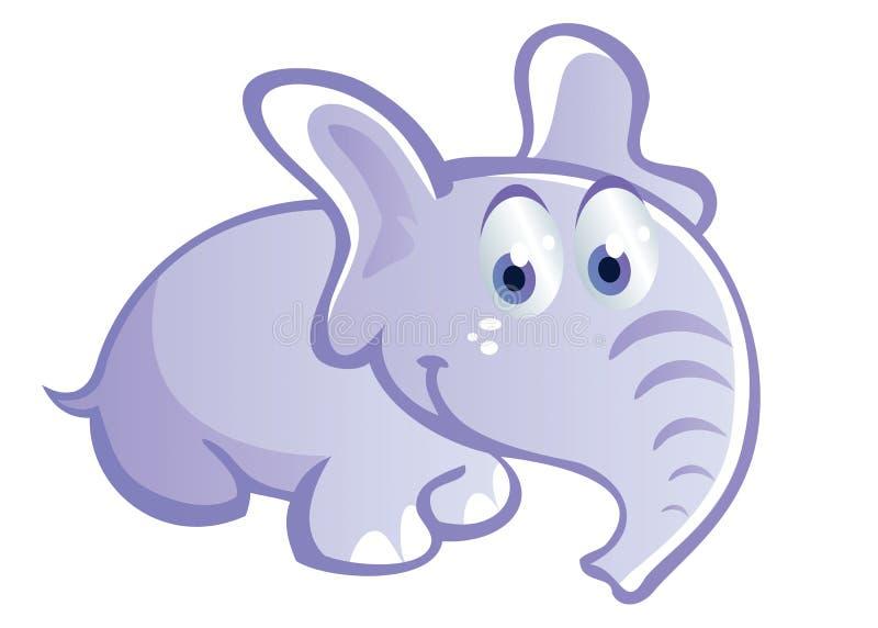 Desenhos animados bonitos do elefante ilustração stock