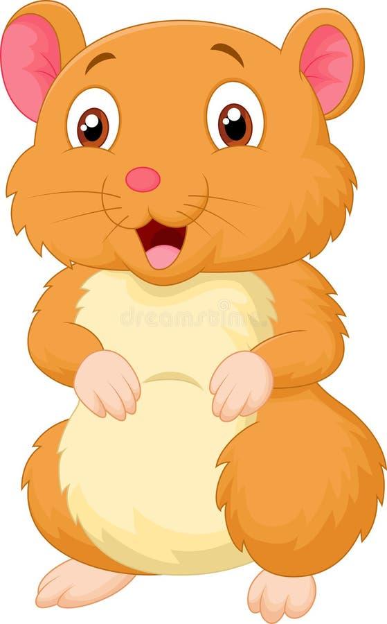 Desenhos animados bonitos do hamster ilustração royalty free