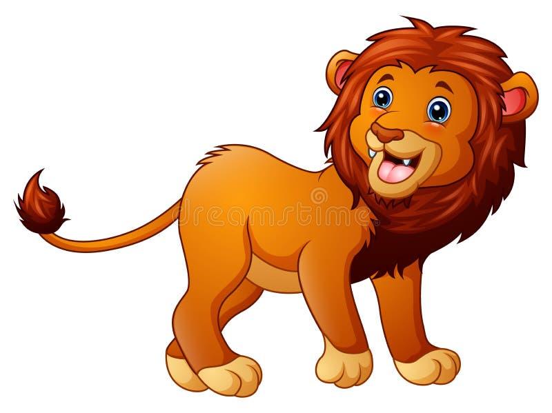 Desenhos animados bonitos do leão ilustração do vetor