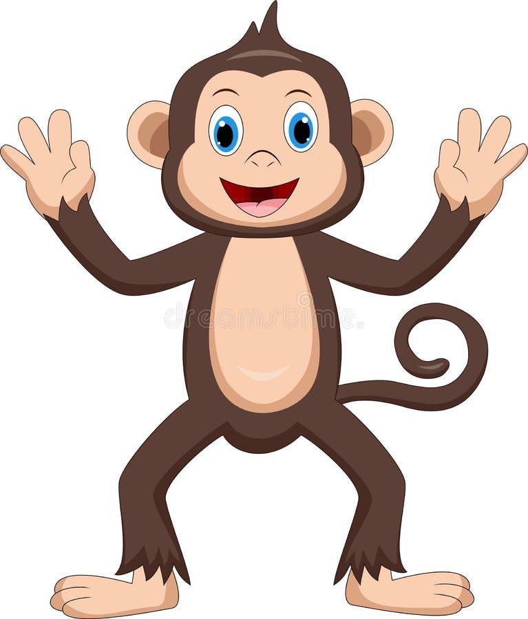 Desenhos animados bonitos do macaco ilustração do vetor