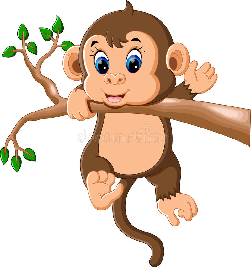 Macaco Bonito Ilustracao Do Vetor Ilustracao De Carater 79017760