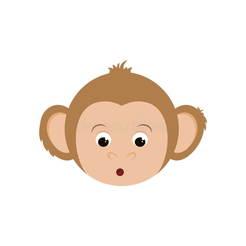 desenhos animados bonitos do mokey ilustração royalty free
