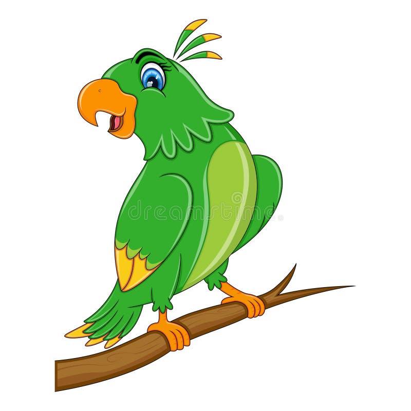 Desenhos animados bonitos do papagaio ilustração royalty free