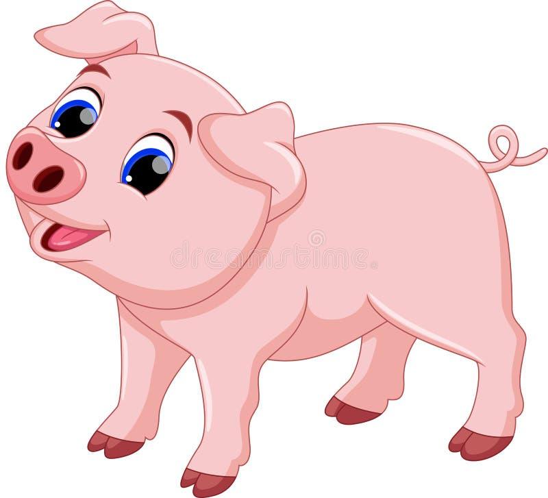 Desenhos animados bonitos do porco do cozinheiro chefe