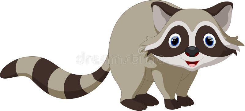 Desenhos animados bonitos do raccoon ilustração do vetor